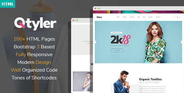 Qtyler - Fashion Brand And Clothing Manufacture HTML Template - Business Corporate