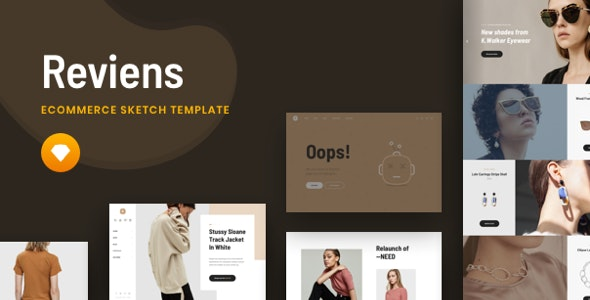 Reviens - Ecommerce Sketch Template - Shopping Retail
