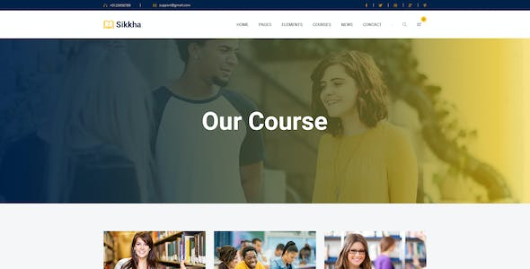 Sikkha - Educational PSD Template