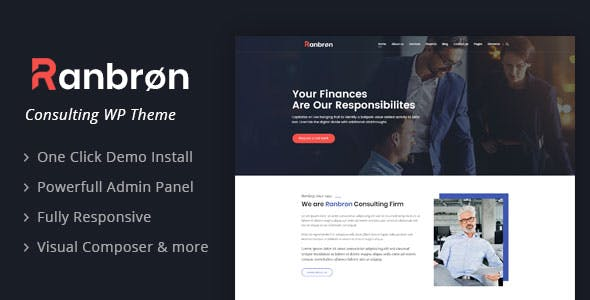 Ranbron - Business and Consulting WordPress Theme by Templatation