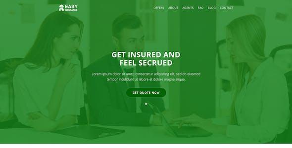 EasyInsurance - Insurance Company Website Templates