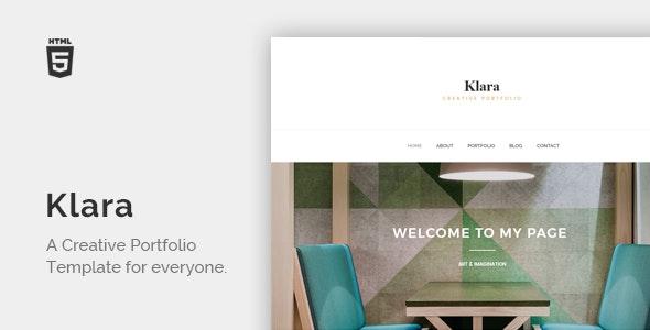 Klara - Minimal Creative Portfolio - Portfolio Creative
