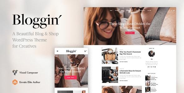 Blggn - A Responsive Blog & Shop WordPress Theme - Personal Blog / Magazine