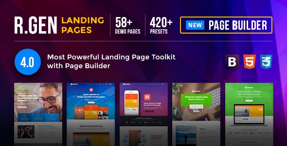 RGen  HTML Landing Pages with Builder - Landing Pages Marketing