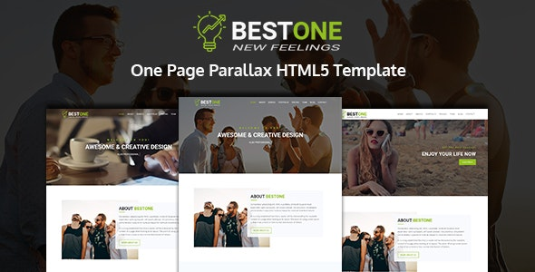 Bestone | One Page Parallax HTML5 Template - Creative Site Templates