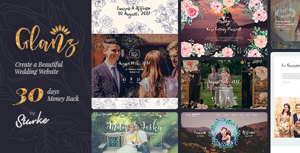 Glanz - Wedding Theme - Wedding WordPress