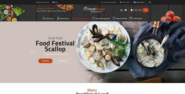HealthyFood - Food & Organic WooCommerce Theme (RTL Supported)