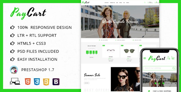 Paycart Glasses Store - Prestashop Theme - PrestaShop eCommerce