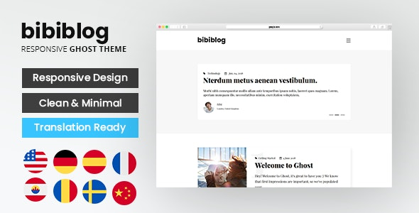 Bibi - Clean and Minimal Ghost Blog Theme - Ghost Themes Blogging