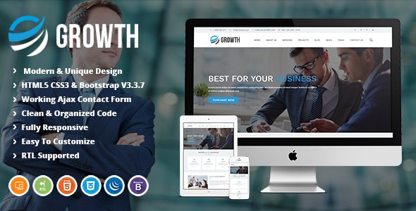 Growth | Business Finance and Corporate HTML Template - Business Corporate