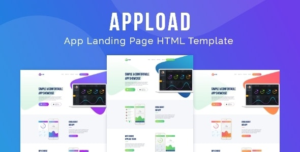 Appload - App Landing Page HTML Template - Technology Site Templates