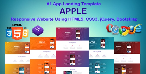 APPLE - HTML App Landing Page | Template - Creative Site Templates