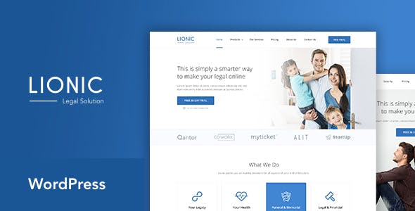 Lionic - Online Finance & Legal WordPress Theme
