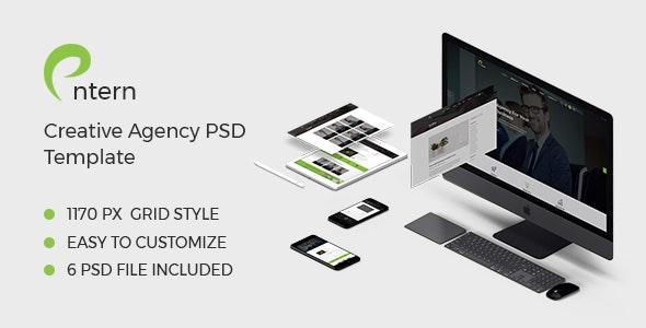Entern - Creative Agency PSD Template - Photoshop UI Templates