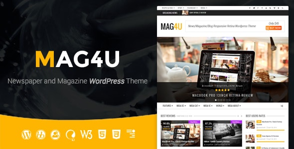 Mag4u - Responsive WordPress News, Magazine, Blog - News / Editorial Blog / Magazine