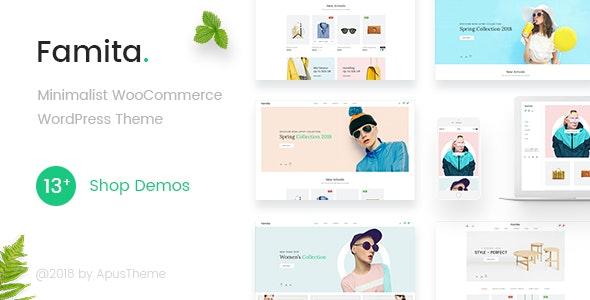 Famita - Minimalist WooCommerce WordPress Theme - WooCommerce eCommerce