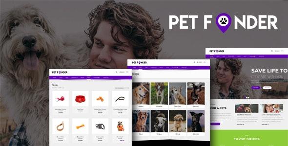 Petfinder - Pet Adoption WordPress  CMS Theme - Business Corporate
