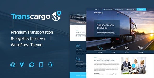 Transcargo - Transportation WordPress Theme for Logistics - Business Corporate