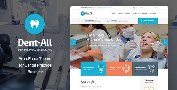 Dentall - Doctor WP Theme - Health & Beauty Retail