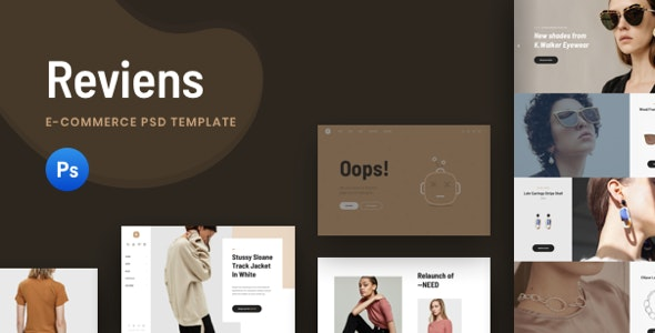 Reviens - Ecommerce PSD Template - Photoshop UI Templates