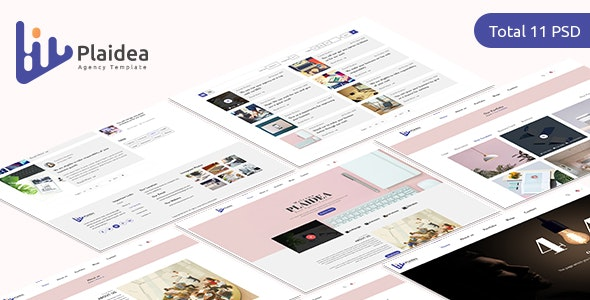 Plaidea - Agency/Corporate PSD Template - Photoshop UI Templates