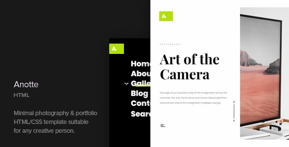 Anotte - Horizontal Photography HTML Template - Photography Creative