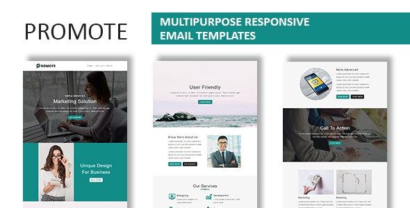Promote - Multipurpose Responsive Email Template With Online StampReady Builder Access - Newsletters Email Templates