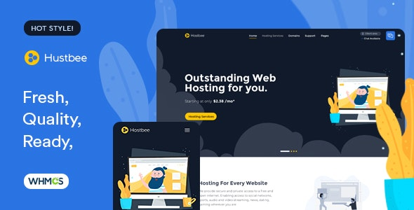 Hustbee - Hosting HTML & WHMCS Template - Hosting Technology