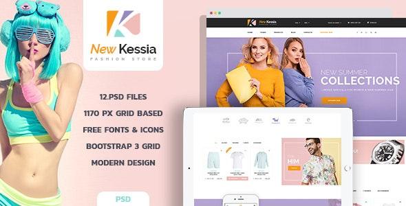 New Kessia - Fashion Shop PSD Template - Creative Photoshop