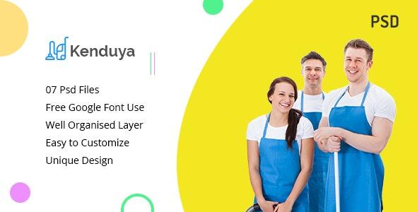 Kenduya-Cleaning Company PSD Template - Photoshop UI Templates