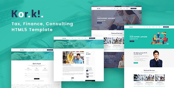 KorKi - Tax & Finance Bootstrap 4 Template - Business Corporate