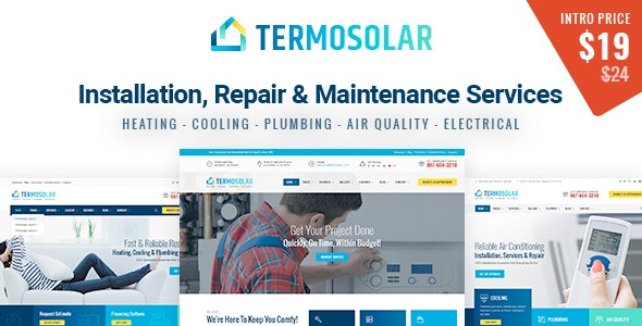 Termosolar - Installation, Repair & Maintenance Services HTML Template - Business Corporate