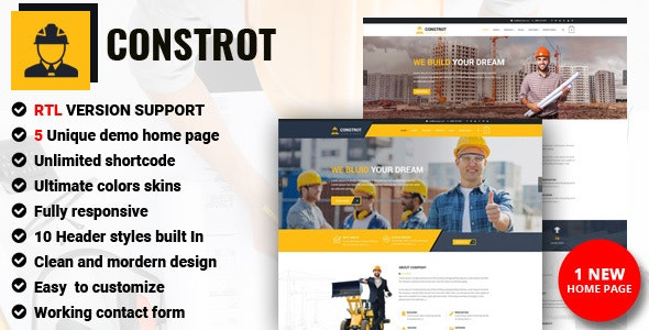 Constrot - Construction - Corporate Site Templates