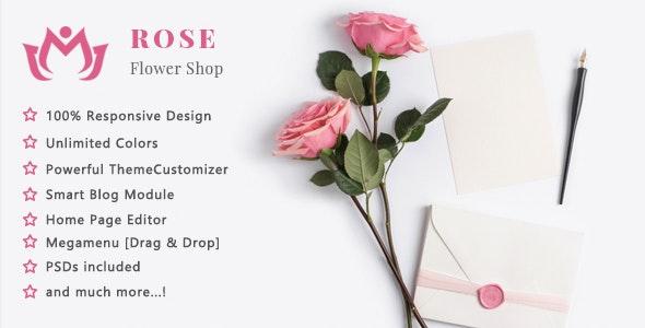 Rose - Flower Shop and Florist Responsive PrestaShop 1.7 Theme - Shopping PrestaShop