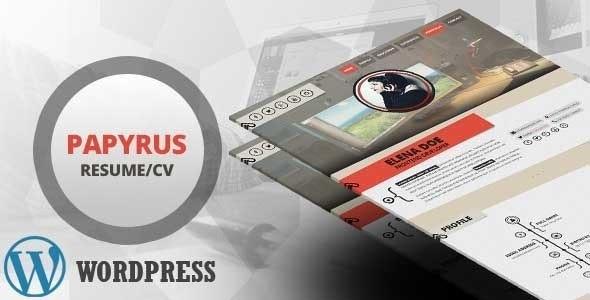 Papyrus    Personal Portfolio WordPress Theme - Portfolio Creative