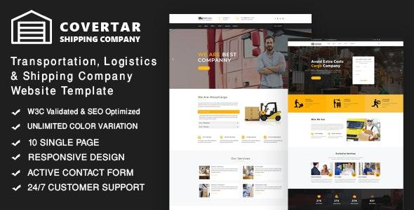 Convertar - Cargo Transport & Logistics Responsive Website - Business Corporate