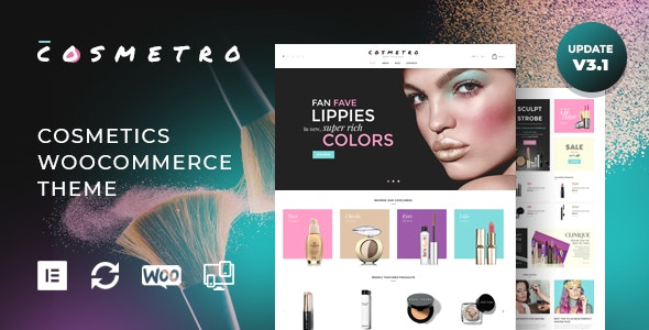 Cosmetro - Cosmetics Store Elementor WooCommerce Theme by
