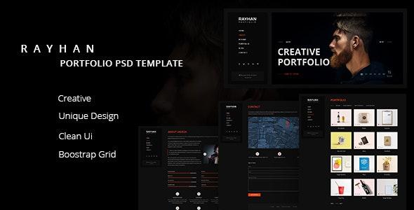 Rayhan - Modern & Creative Portfolio PSD Template - Portfolio Creative