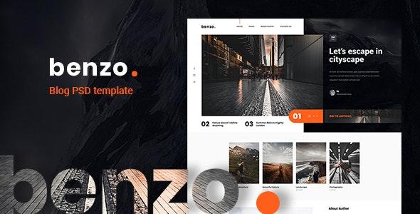 Benzo - Personal Creative Blog PSD Template - Creative Photoshop