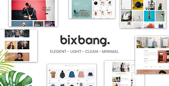 Bixbang | Minimalist eCommerce PSD Template - Shopping Retail