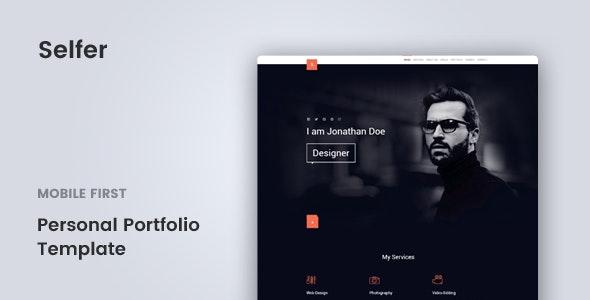 Selfer - Personal Portfolio Template - Personal Site Templates