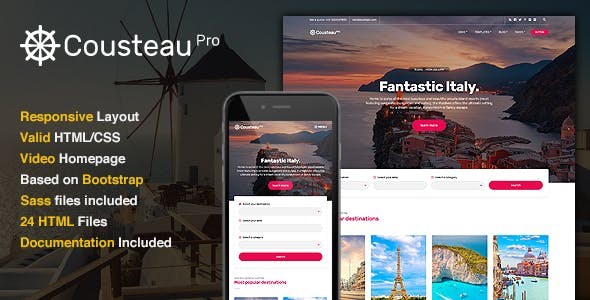 Cousteau Pro - The Travel Site Template
