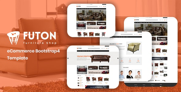 Futon - Furniture Shop eCommerce HTML Template - Shopping Retail