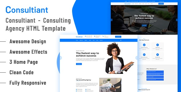 Consultiant - Consulting Agency HTML5 Template - Business Corporate