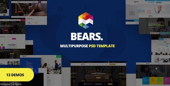 Bear's - Multi-Purpose Business PSD Template - Corporate Photoshop