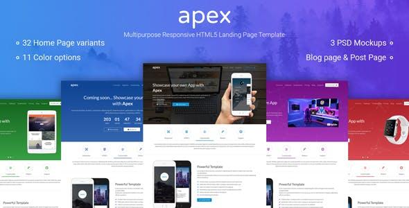 Apex - Multipurpose App Landing Page HTML5 Template