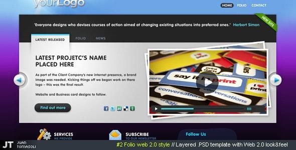 #2 Folio web 2.0 style, PSD theme - Portfolio Creative