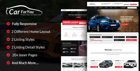 Used Car Templates From Themeforest