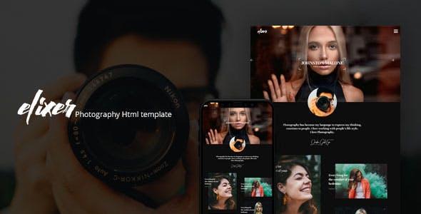 Elexer - Photography Portfolio Template