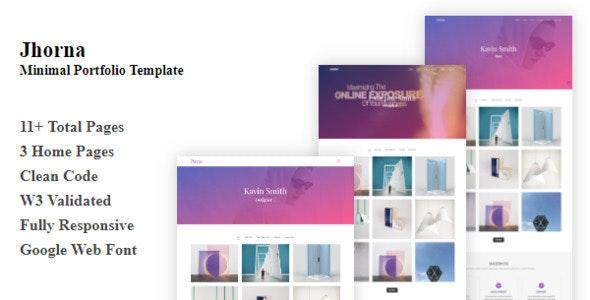 Jhorna - Minimal Portfolio Template - Portfolio Creative
